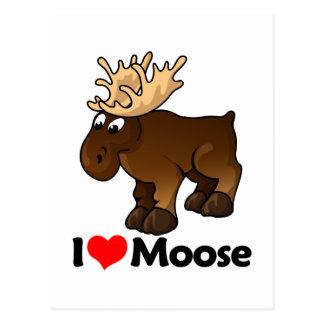 I Love Moose Post Card
