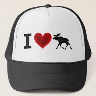I Love Moose Trucker Hat