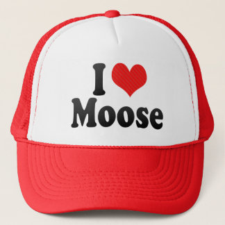 I Love Moose Trucker Hat