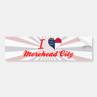 I Love Morehead City, North Carolina Bumper Sticker