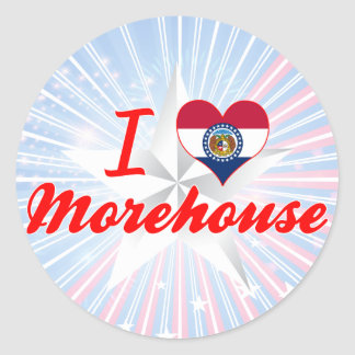I Love Morehouse Missouri Round Stickers