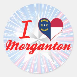 I Love Morganton, North Carolina Stickers