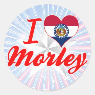 I Love Morley, Missouri Round Sticker