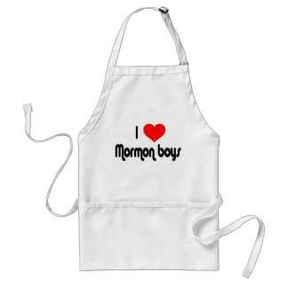 I Love Mormon Boys Apron