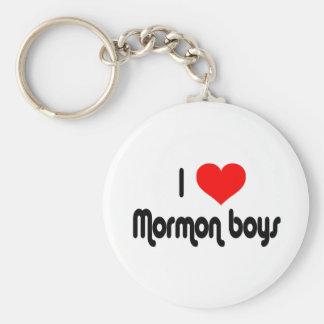 I Love Mormon Boys Basic Round Button Key Ring