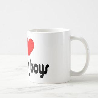 I Love Mormon Boys Basic White Mug