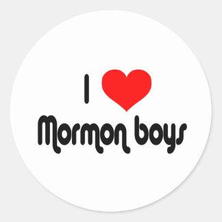 I Love Mormon Boys Round Sticker