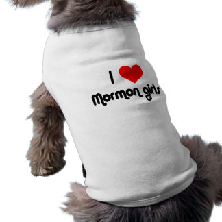 I love Mormon girls Sleeveless Dog Shirt