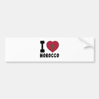 I Love Morocco Bumper Stickers