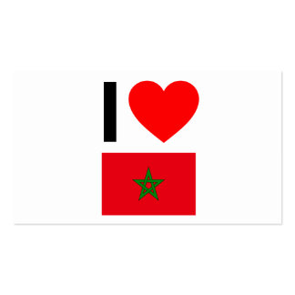 i love morocco business card templates