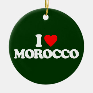 I LOVE MOROCCO CHRISTMAS ORNAMENT