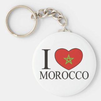 I Love Morocco Key Ring