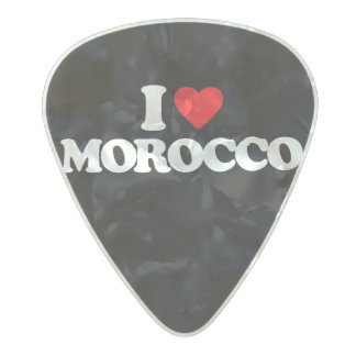 I LOVE MOROCCO PEARL CELLULOID GUITAR PICK