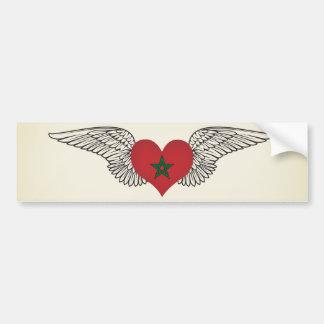 I Love Morocco -wings Car Bumper Sticker