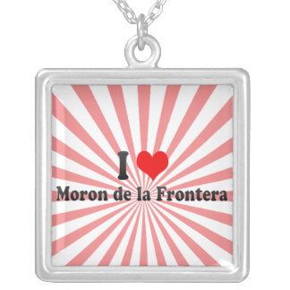 I Love Moron de la Frontera, Spain Personalized Necklace