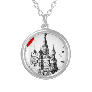 I love Moscow Round Pendant Necklace