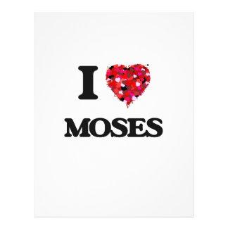 I Love Moses 21.5 Cm X 28 Cm Flyer