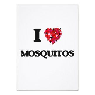I Love Mosquitos 13 Cm X 18 Cm Invitation Card