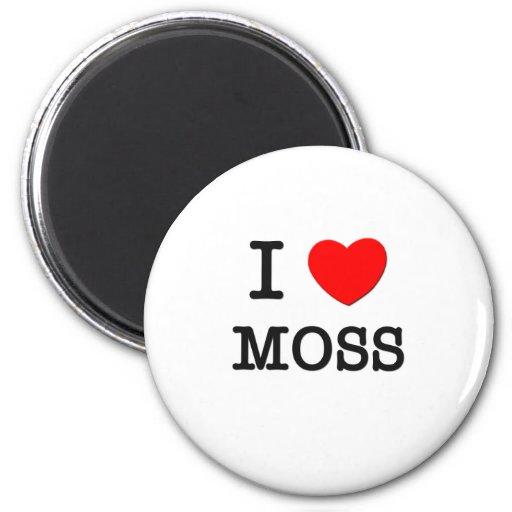 I Love Moss 6 Cm Round Magnet