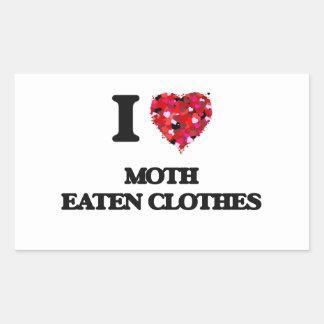 I Love Moth Eaten Clothes Rectangular Sticker