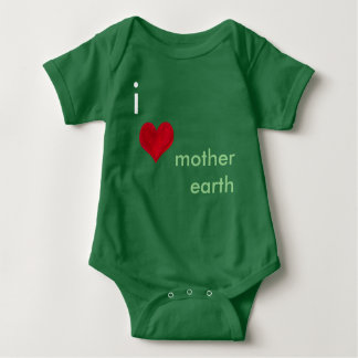 I Love Mother Earth Baby Bodysuit