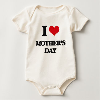 I Love Mother'S Day Baby Bodysuits