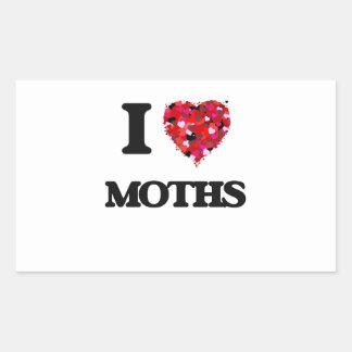 I love Moths Rectangular Sticker