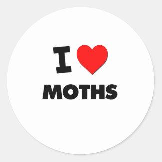 I Love Moths Stickers