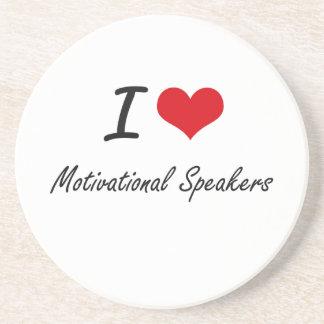 I love Motivational Speakers Drink Coasters