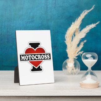 I Love Motocross Display Plaques