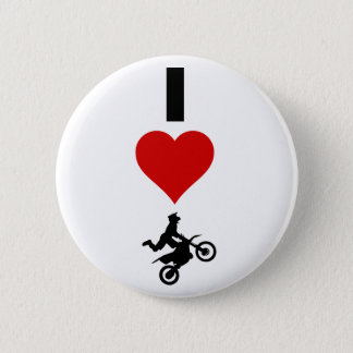 I Love Motocross (Vertical) 6 Cm Round Badge