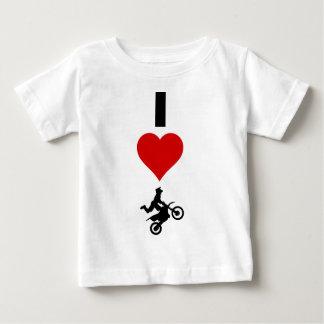 I Love Motocross (Vertical) Baby T-Shirt