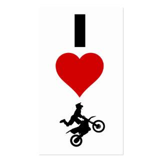 I Love Motocross (Vertical) Business Card