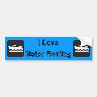 I Love Motor Boating Bumper Sticker