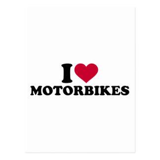 I love motorbikes postcard