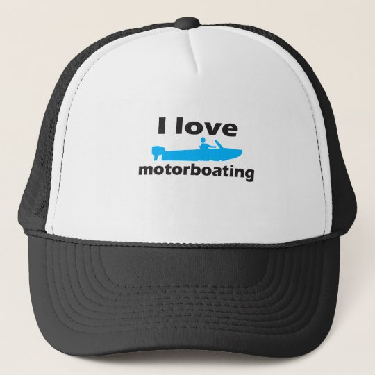 I Love Motorboating Cap