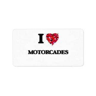 I Love Motorcades Address Label