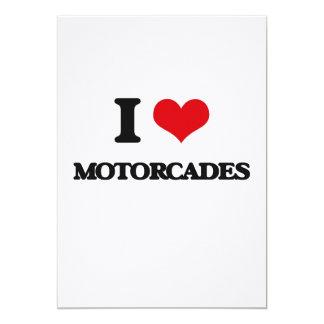 """I Love Motorcades 5"""" X 7"""" Invitation Card"""