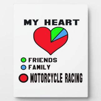 I love Motorcycle Racing. Display Plaque