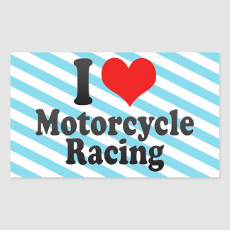 I love Motorcycle Racing Sticker