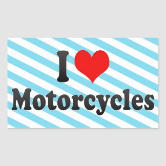 I love Motorcycles Rectangle Stickers