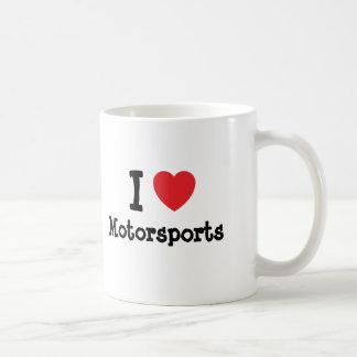I love Motorsports heart custom personalized Mugs