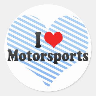 I Love Motorsports Sticker