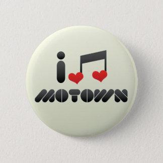 I Love Motown 6 Cm Round Badge