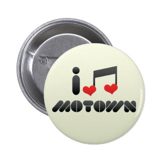 I Love Motown 6 Cm Round Badge