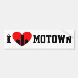 I Love Motown Bumper Sticker