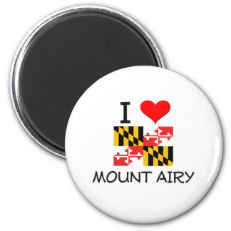I Love Mount Airy Maryland 6 Cm Round Magnet