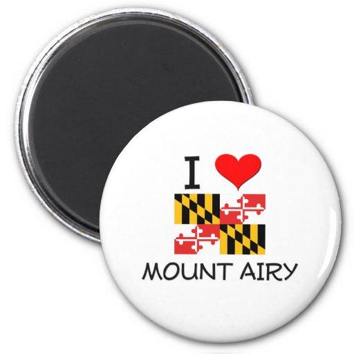 I Love Mount Airy Maryland Fridge Magnets