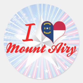 I Love Mount Airy, North Carolina Round Stickers