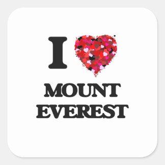 I love Mount Everest Square Sticker